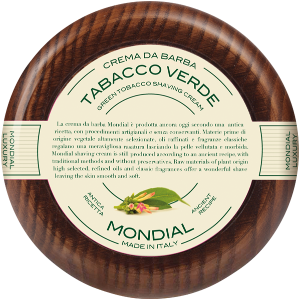 Mondial Antica Barberia Shaving Cream Wooden Bowl
