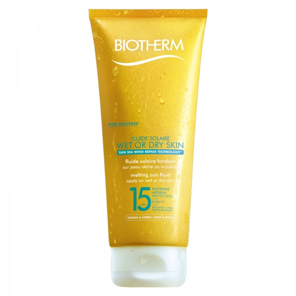 Biotherm Fluide Solaire Wet Skin LSF 15, 200 ml