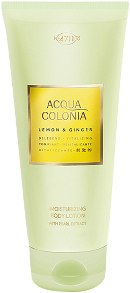 4711 Acqua Colonia Lemon & Ginger Moisturizing Body Lotion with Pearl Extract