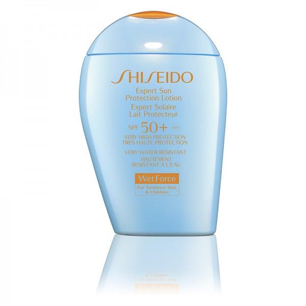 Shiseido Sun Care Expert Sun Protection Lotion WetForce SPF50+ For Sensitive Skin & Children 100ml