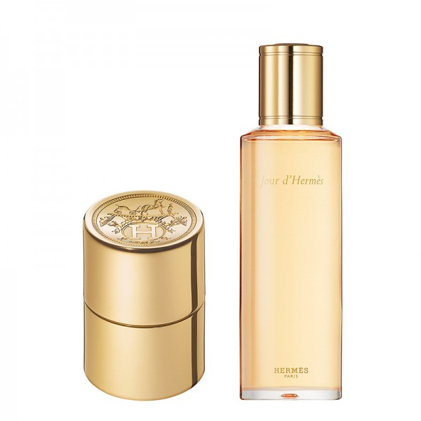 HERMÈS Jour d'Hermès Eau de Parfum: refillable 10 ml Pocket Spray + 125 ml Refill Bottle