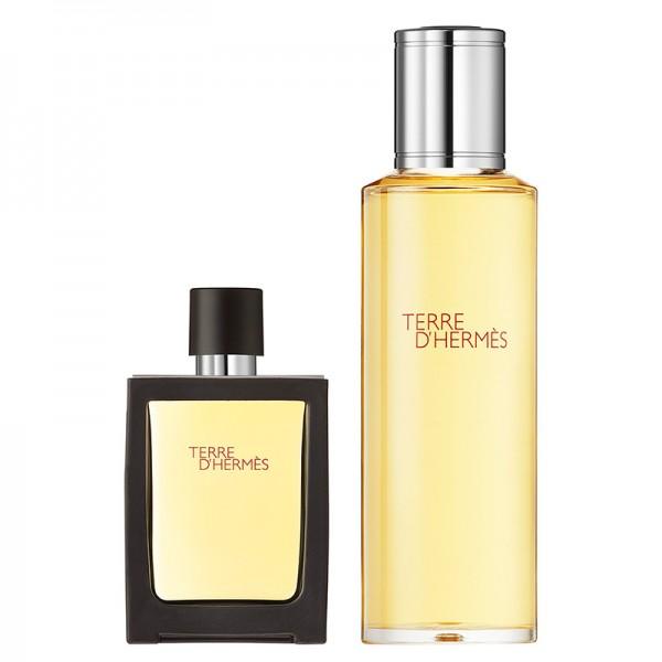 HERMÈS Terre d'Hermès 121 Gramm - Eau de Parfum Refillable Spray + Refill Bottle