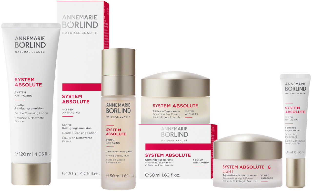 Annemarie Börlind SYSTEM ABSOLUTE – SYSTEM ANTI-AGING: Anti-Aging-Pflegeserie bei anspruchsvoller Haut