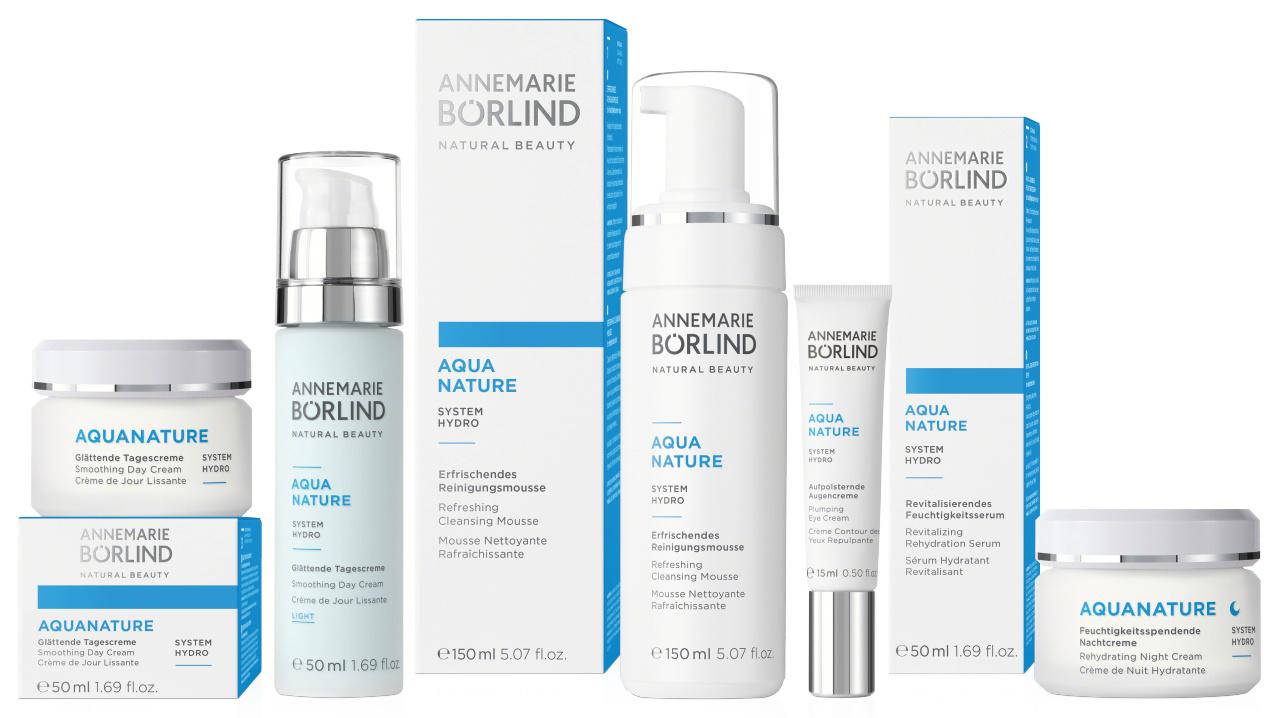 Annemarie Börlind AQUANATURE – SYSTEM HYDRO: Erfrischende Pflegeserie bei feuchtigkeitsarmer Haut
