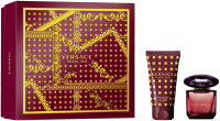 Versace Crystal Noir Set = E.d.T. Nat. Spray + Perfumed Body Lotion